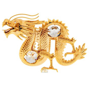 Dragon Spectra Crystals by Gold Plated Ornament Figure