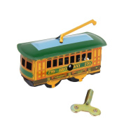 Generic Collectible Tram Trolley Streetcar Wind Up Walking Tin Toys w Key Home Decor