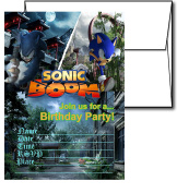 12 SONIC THE HEDGEHOG Birthday Invitation Cards