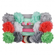 Mint to Be - Mini DIY Headband Kit - Makes 12 Single or 6 Double Headbands - Baby Shower Headband Station - Fashion Headbands for Birthday Party & Baby Shower Games
