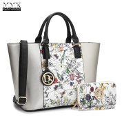 MMK collection Women Fashion Matching Satchel handbags with walle(6417)t~Designer Purse with Wristlet Wallet