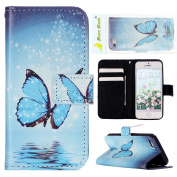 iPhone SE Wallet Case, iPhone 5 Case, iPhone 5S Case, Moon mood PU Leather Flip Wallet Stand Phone Case for iPhone 5/5S/SE