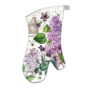 Michel Design Works Padded Cotton Oven Mitt, Lilac/Violets