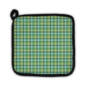 Gear New 6051031-GN-PH1 Textile Plaid in Green Blue Yellow Pot Holder
