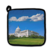"Gear New 5469790-GN-PH1 ""Capitol Building Washington Dc Sunlight Us Congress Turf Meadow Us"" Pot Holder"