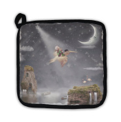 Gear New 5764783-GN-PH1 Child & Pelican Flying in The Night Sky Pot Holder