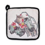 Gear New 6073744-GN-PH1 Chinese Painting of A Lotus Pot Holder