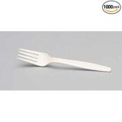 Genpak Harvest Tan Heavy Fork, 18cm -- 1000 per case.