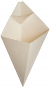 American Metalcraft SQFBCN Fry Baskets and Cones, 25cm Length x 15cm Width, White