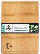 Extra Large Single Piece Bamboo Wood Cutting and Chopping Board 46cm x 33cm with Drip Groove by Eco Kitchenware