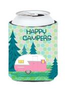 Caroline's Treasures Happy Campers Glamping Trailer Can or Bottle Hugger, Multicolor