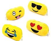 Emoji Plush Pencil Case - Pack of 4 - Play Kreative Tm