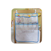 DecentGadget® DecentGadget® Baby Nursery Organiser Hanging Organiser for Bed Nappy Organiser With Large Pockets Rhombic-Shaped Grid Breathable 50*60 CM