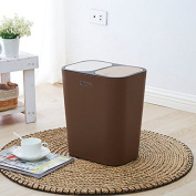 Push-type Double-cover Can Be Classified Garbage Bin Creative Kitchen Living Room Home Rectangle Trash