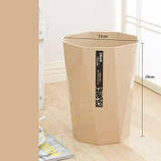 Octagonal Trash Cans Without Lid Storage Barrel Thicker Household Kitchen Bathroom Plastic Trash