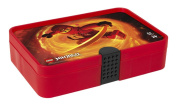 LEGO Ninjago Sorting Box, Storage Case / Container with Compartments, Translucent Red