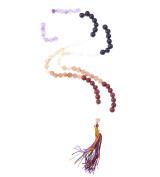 Semi precious gemstone chakra jap mala 108 beads aventurine lapiz red jasper japa prayer beads