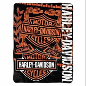 Harley-Davidson Gear B & S Logos Throw Blanket