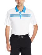 adidas Golf Mens adidas 3-stripes Textured Polo