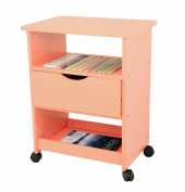 Frenchi Home Furnishing Rolling Cart with Drawer, Orange