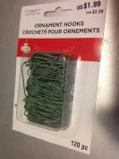 3.8cm green ornament hooks120 per pkg.