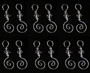 24 Swirled Clear Beaded Christmas Ornament Hooks 7.6cm for Decorations