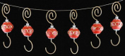 Red Christmas Ornament Hooks