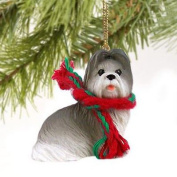 Simply Silver - SHIH TZU (Grey) DOG CHRISTMAS ORNAMENT HOLIDAY Figurine gift