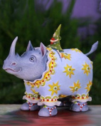 14cm Patience Brewster Krinkles Roberta Rhino Decorative Christmas Figure Ornament