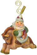 G. Debrekht Santa on Pony Figurine Ornament