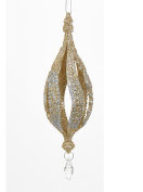 17cm Rich Elegance Decorative Gold and Silver Glitter finial Christmas Ornament