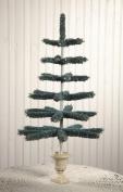 Bethany Lowe Tabletop Aqua Raffia Tree with Resin Urn Base, 70cm Tall