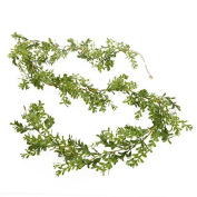 1.8m of Airy Artificial Vinyl Boxwood Leaf Garland for Decorating, Crafting and Embellishing