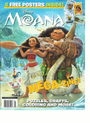 DISNEY MOANA MEGA-ZINE! PUZZLES, CRAFTS colouring AND MORE! 4 FREE POSTERS INSIDE