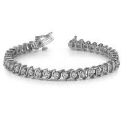 3.00 ct Round Cut Diamond S-Type Tennis Bracelet