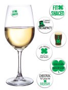 St Patricks Day Decorations for Your Wine Glass or Beer Mug Set of 6 Magnetic Wine Charms Fun for a Parade or Pub Crawl