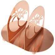 Creative Home Metal Napkin, Condiment Holder with Copper Finish, NA