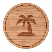 Tropical Beach Circle Magnet, Round Magnet, 5.1cm Refrigerator Magnet