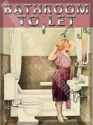Bathroom Toilet To Let Home Vintage Medium Metal/Steel Wall Sign
