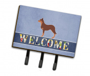 Caroline's Treasures BB5533TH68 Australian Kelpie Dog Welcome Leash or Key Holder , Triple, multicolor