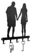 Lovers - Key Holder, Hooks, Hanger, Metal, Black