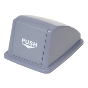 Recycling Trash Lid Only, 33cm W x 46cm D x 23cm H, Grey