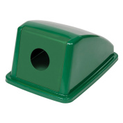 Recycling Bottle & Can Lid Only, 33cm W x 46cm D x 23cm H, Green