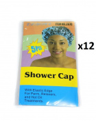 Elysee Star 5 Pieces (60 Pc) Disposable Shower Caps Colour Transparent Multicolour (#2070) - With Elastic Edge For Perm, Relaxers & Hot Oil Treatments - One Size Fits All