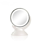 Round LED Make-up Mirror Double-sided 360 degree rotating beauty mirror 5 times magnifying glass