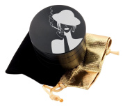 Smoking Girl Laser Etched Design 4pcs Large Size Herb Grinder With FREE Scraper & Velvet Pouch Item # ETCH-G020817-1
