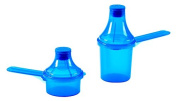 The Scoopie 2 Count Portable Scoop Funnel, Blue