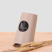 UPSTYLE Dual-use Square and Round Wheat Straw Oblique Tooth Mug, 280ml, WS0551
