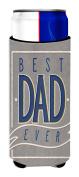Caroline's Treasures Best Dad Ever Michelob Ultra Hugger For Slim Cans, Multicolor