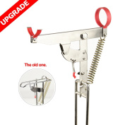 Fishing Rod Holder - Stainless Steel with Strong Spring Rack and Automatic Tip-Up Hook Setter